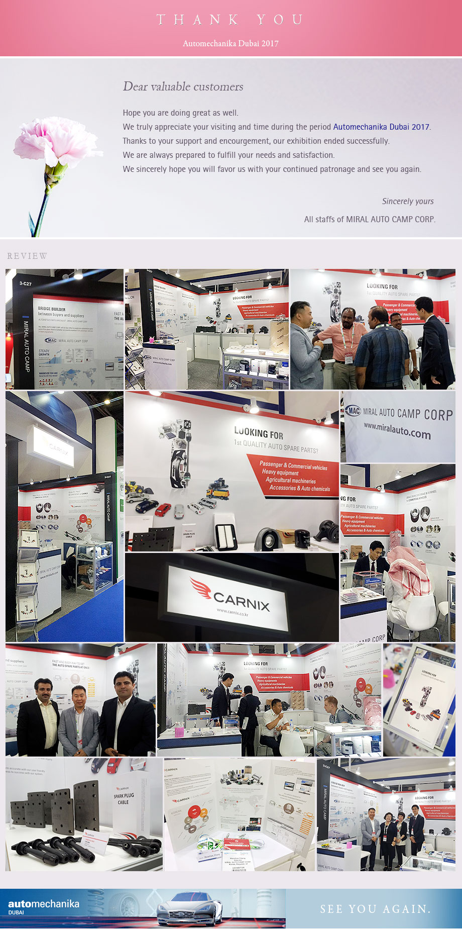Miral Auto Camp - Automechanika Dubai