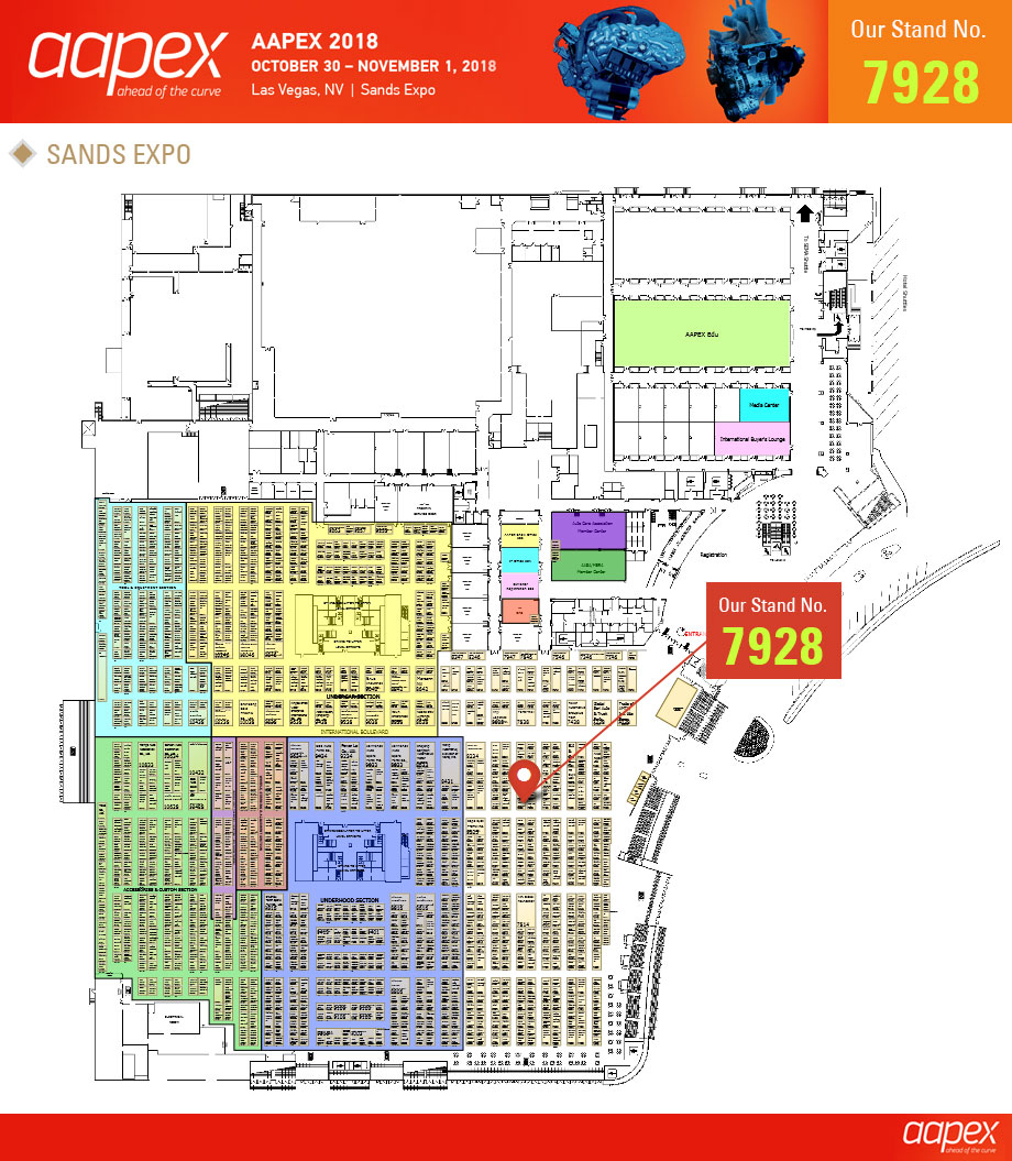 Miral Auto Camp Corp - AAPEX 2018  - Booth Map